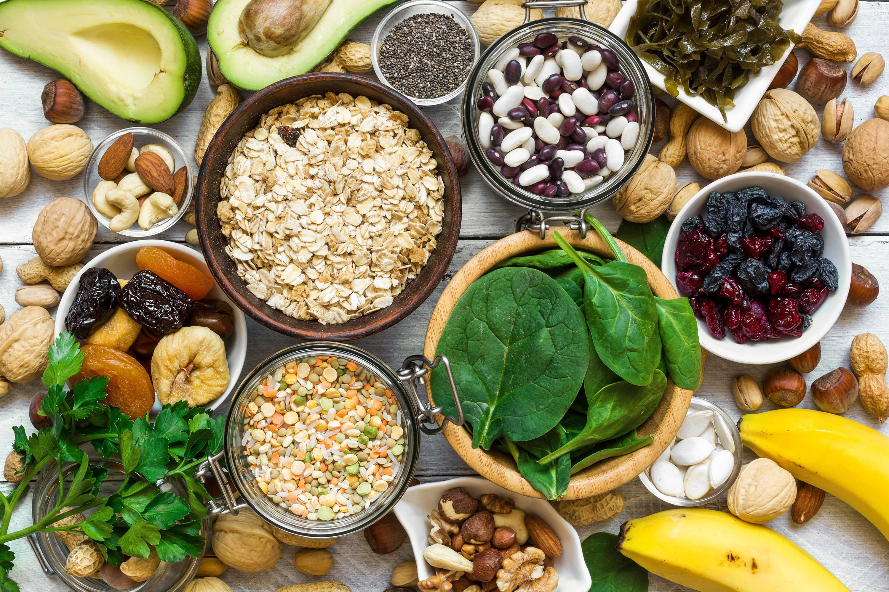 Fruit, nuts, seeds and other healthy foods