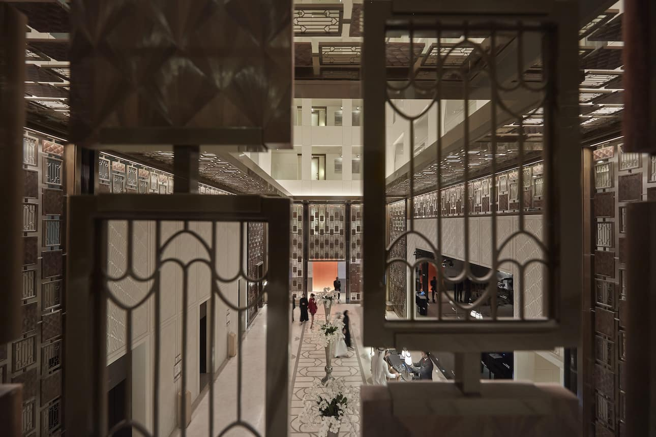 Lattice work detail at Mandarin Oriental, Doha