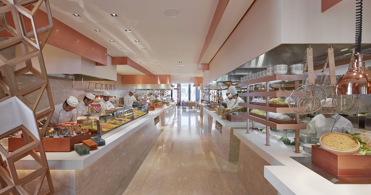 mosaic dining area