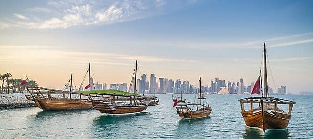 doha boats in bay