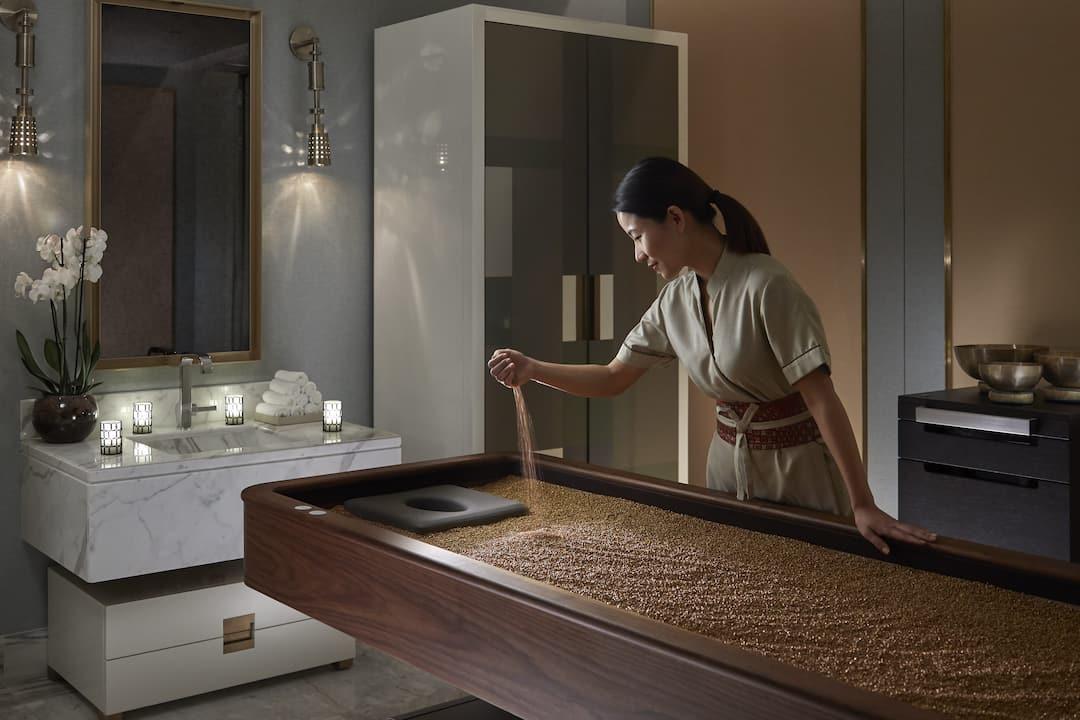 spa quartz bed treatment