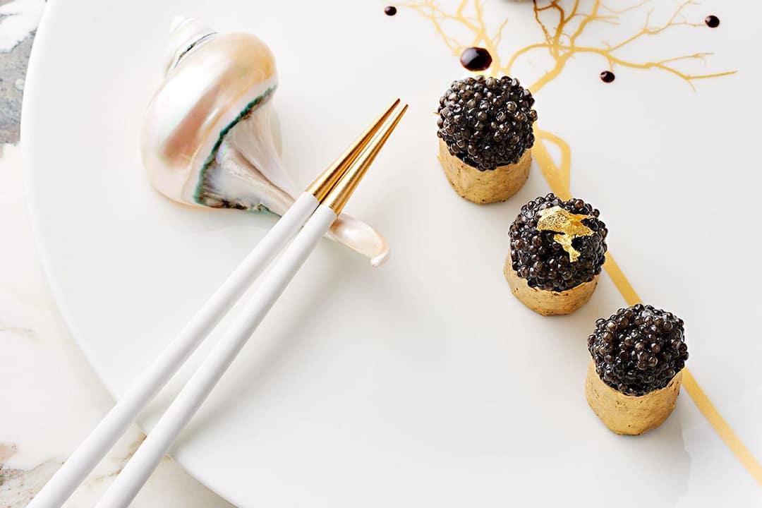 caviar dish