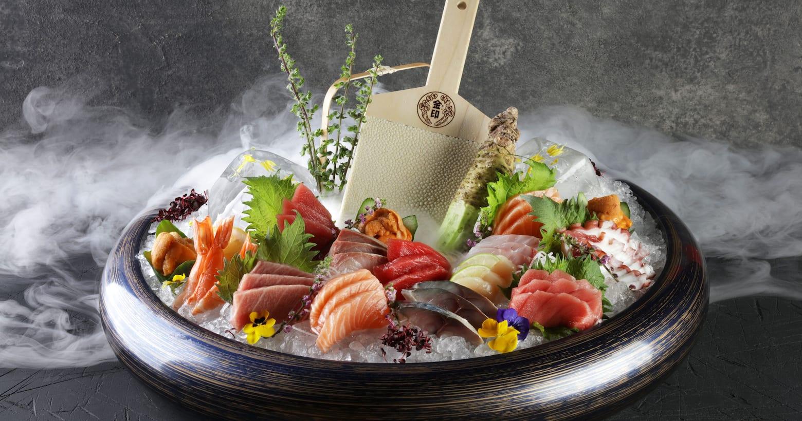 netsu food - sashimi on ice