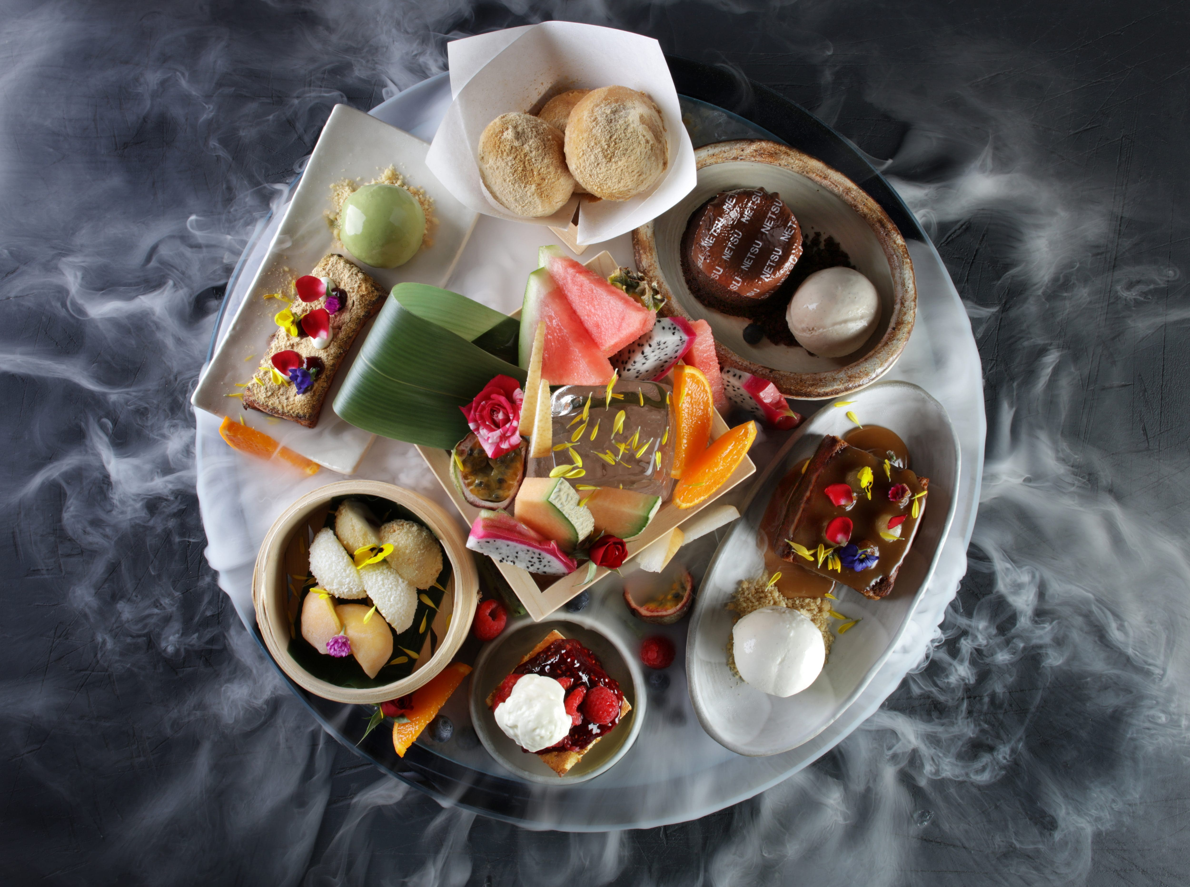 Desert platter at Netsu, Japanese Steakhouse, Mandarin Oriental, Dubai
