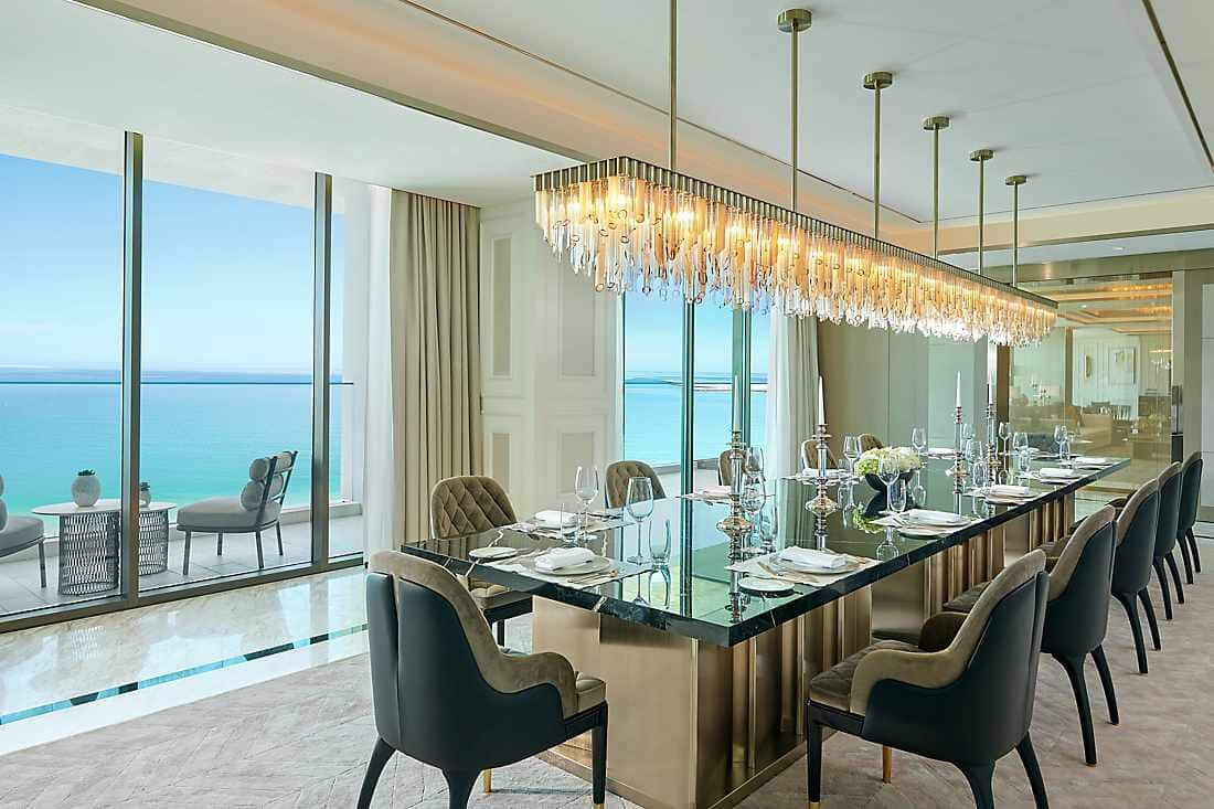 Royal Penthouse dining room