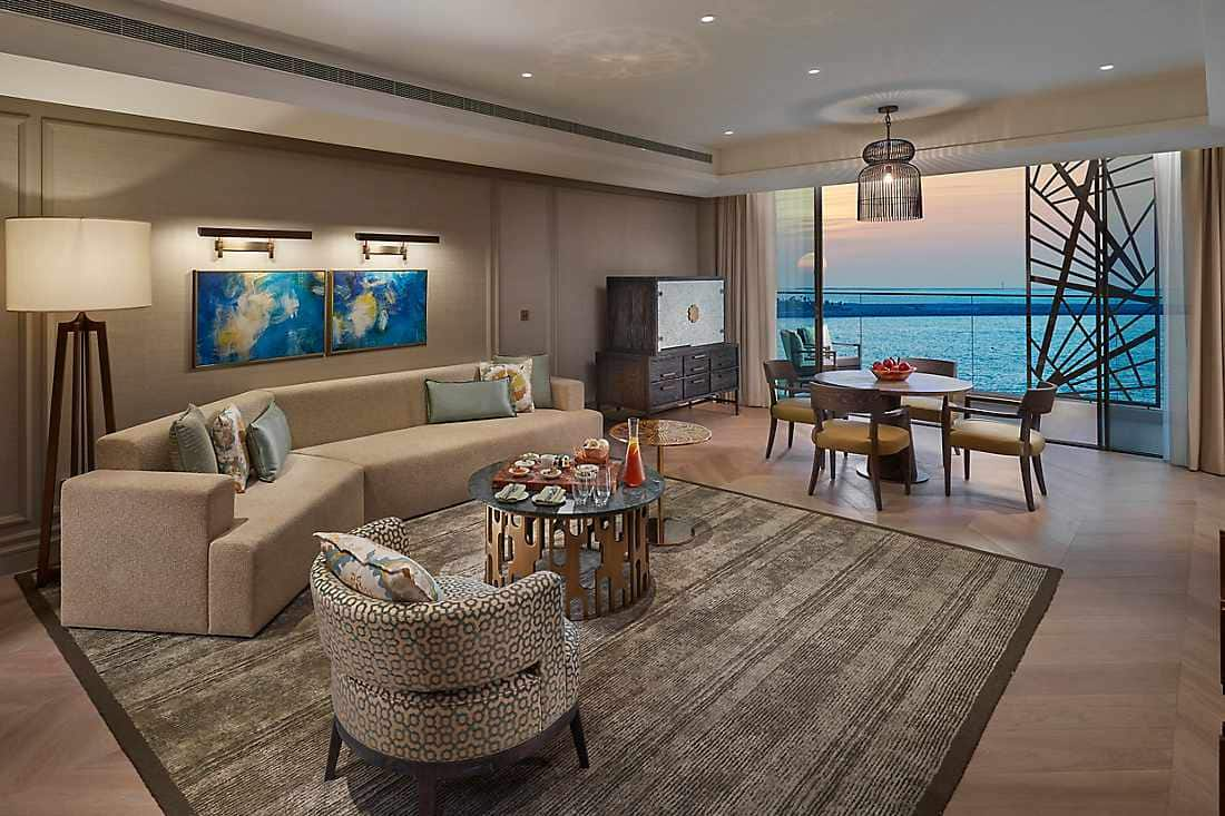 Two Bedroom Premier Sea View Suite living room