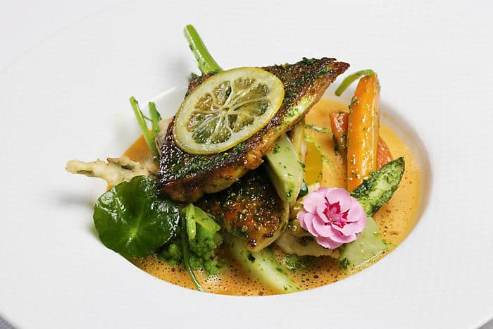 Seabream with Coriander Charmoula