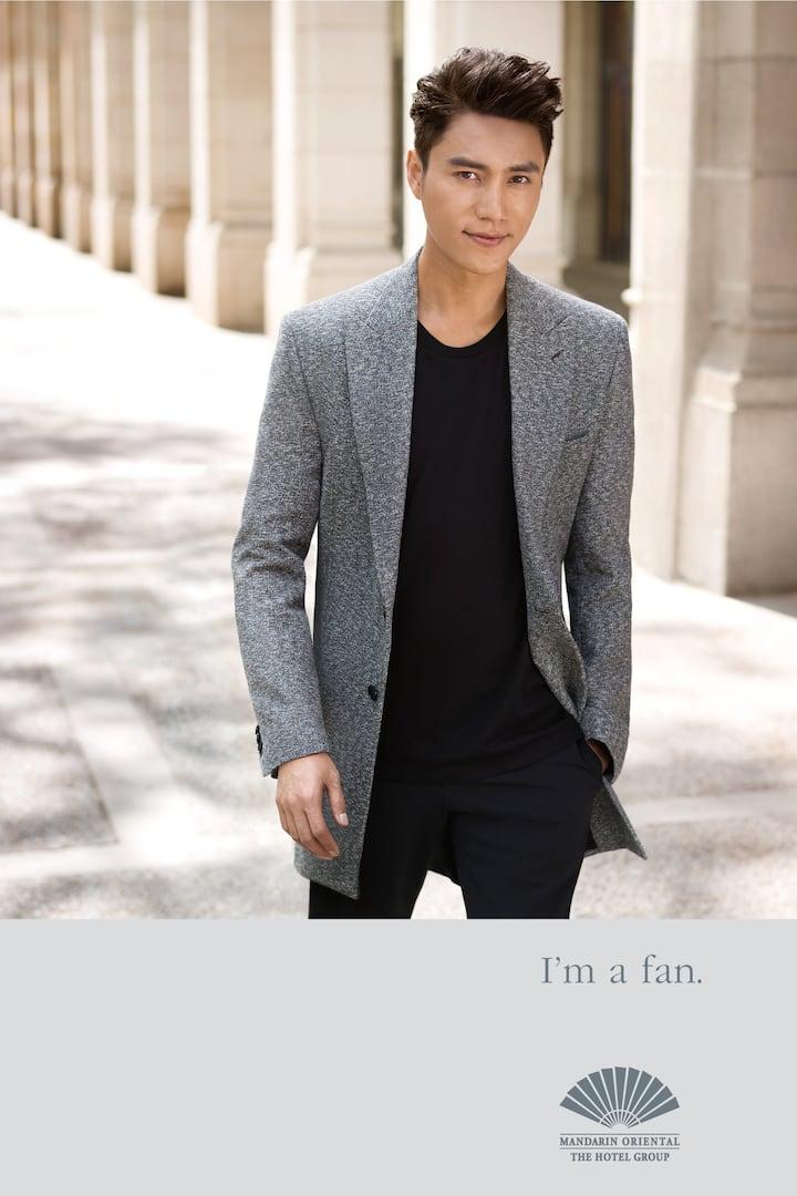 Chen Kun in grey suit