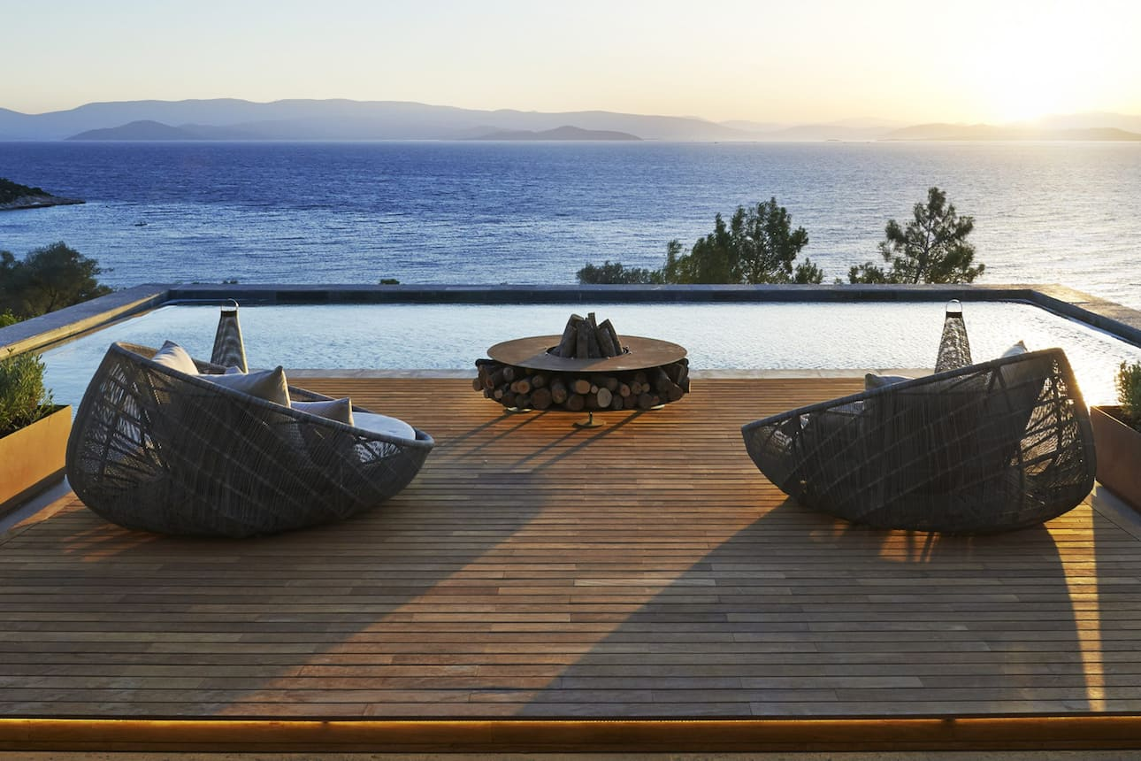 Terrace with sea view at Mandarin Oriental, Bodrum