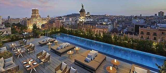 penthouse lounge with pool