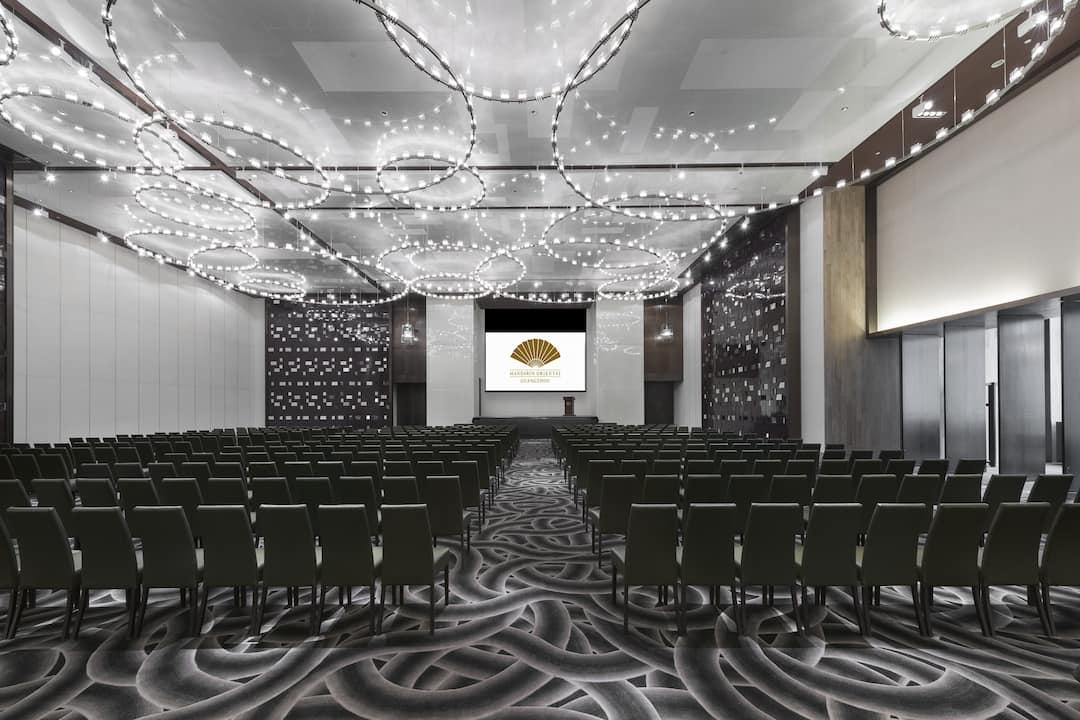 theatre setup in ballroom at mandarin oriental, guangzhou