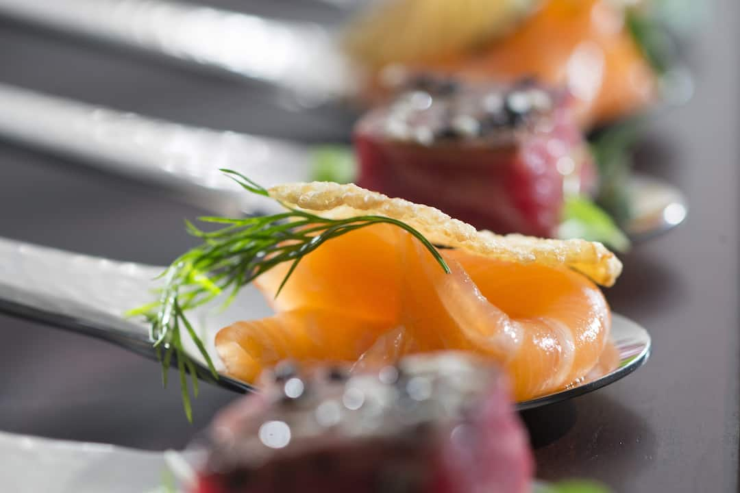 canape from catering team at mandarin oriental, guangzhou