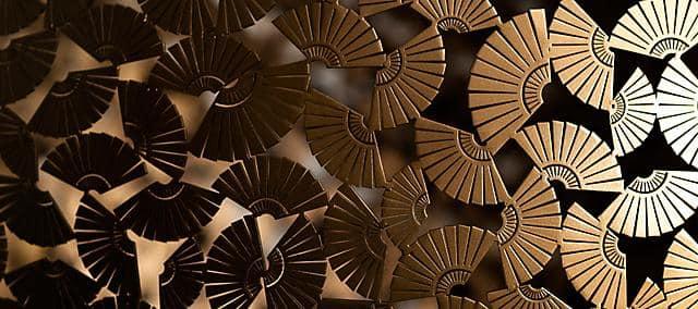 gold fans