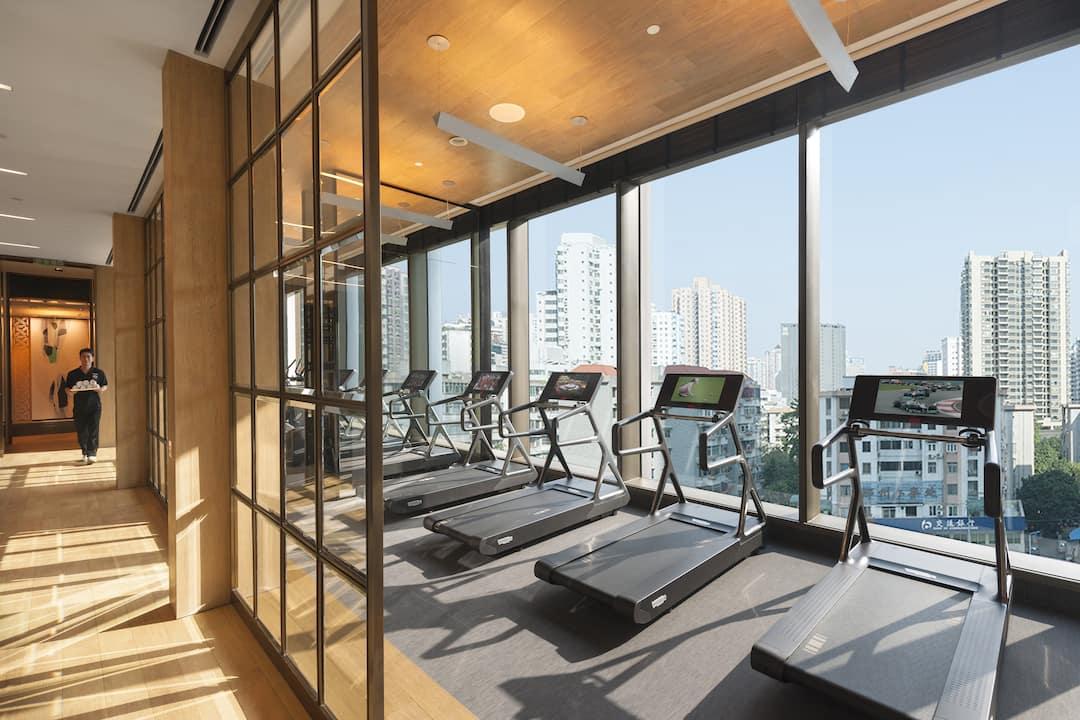 fitness centre at mandarin oriental, guangzhou