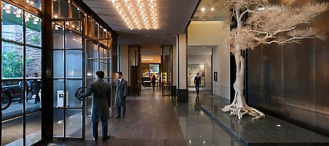 hotel lobby at mandarin oriental, guangzhou