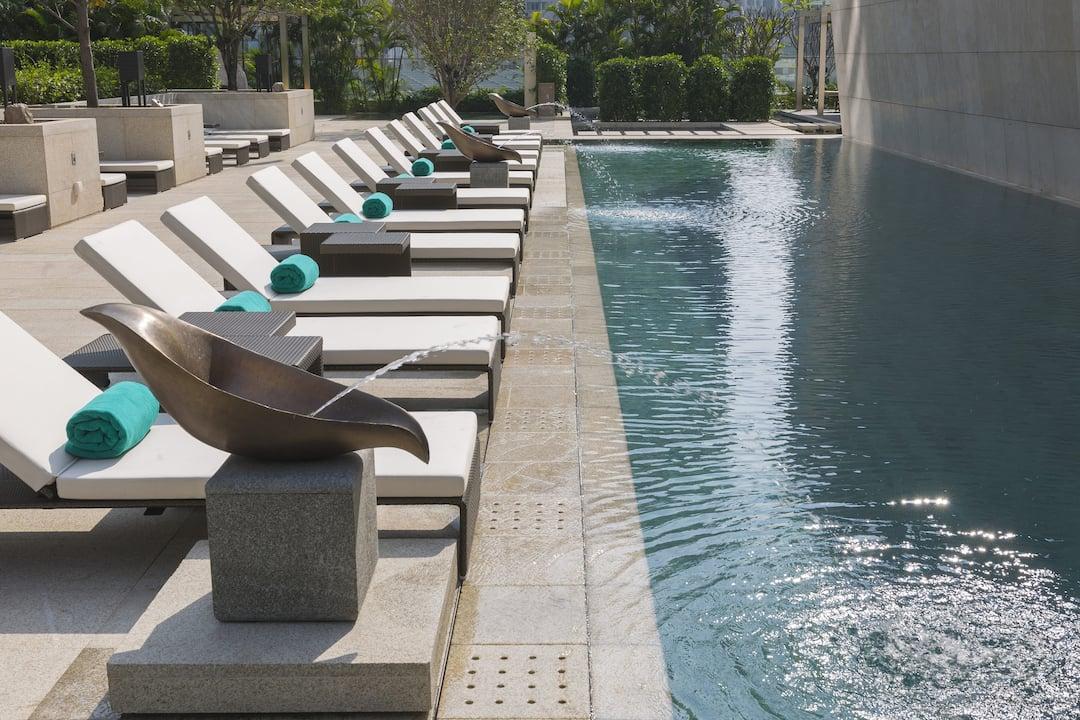 swimming pool at mandarin oriental, guangzhou