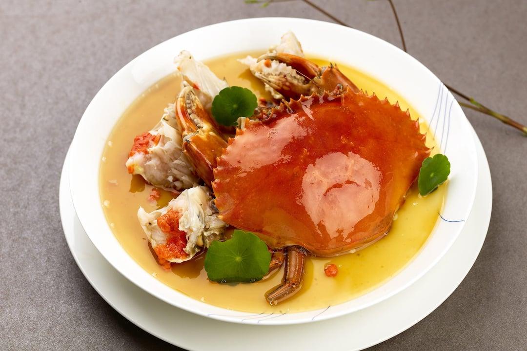 crab dish from jiang at mandarin oriental, guangzhou