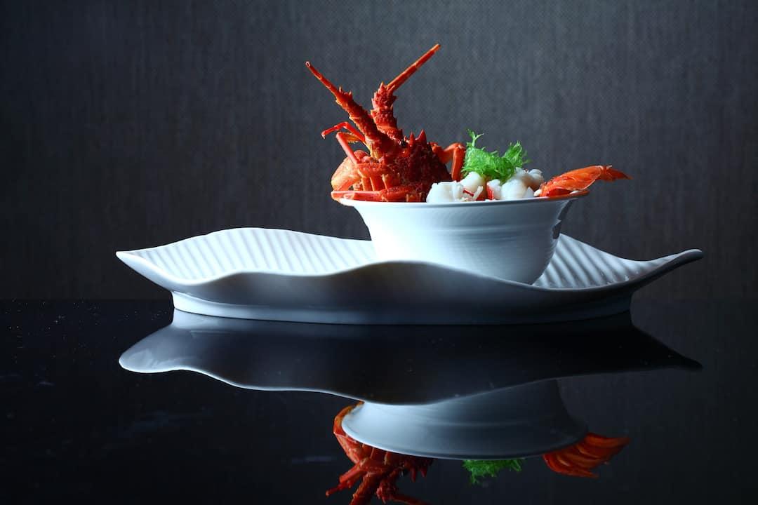 lobster dish from jiang at mandarin oriental, guangzhou