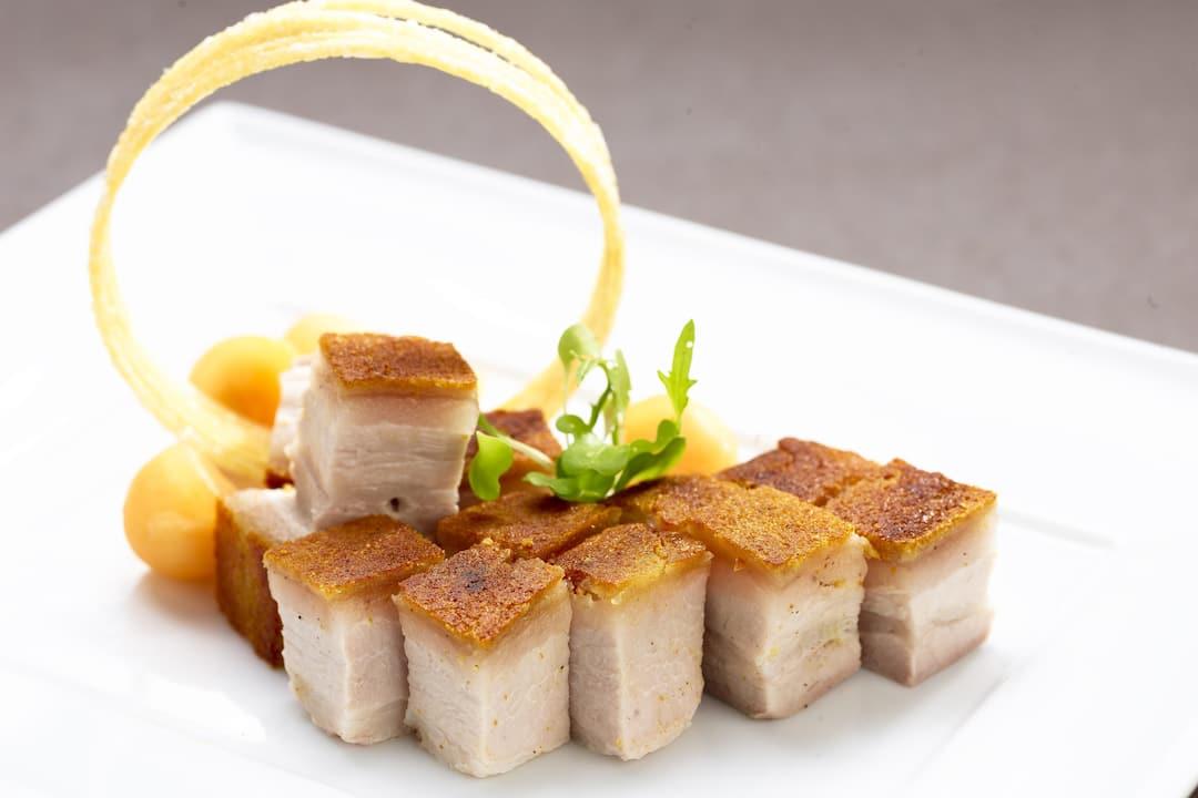 fried pork belly from jiang at mandarin oriental, guangzhou