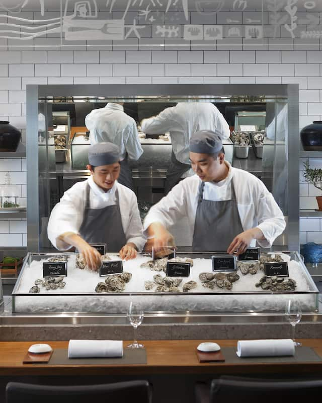 chefs at mandarin grill at mandarin oriental, hong kong