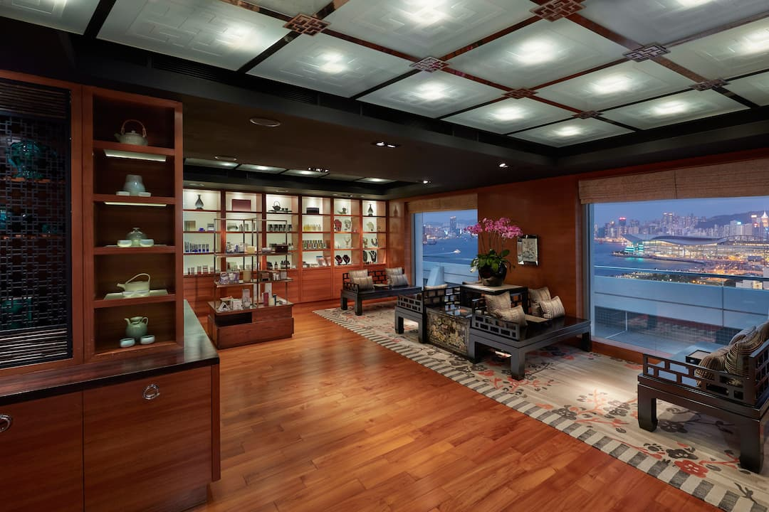 spa reception at mandarin oriental, hong kong