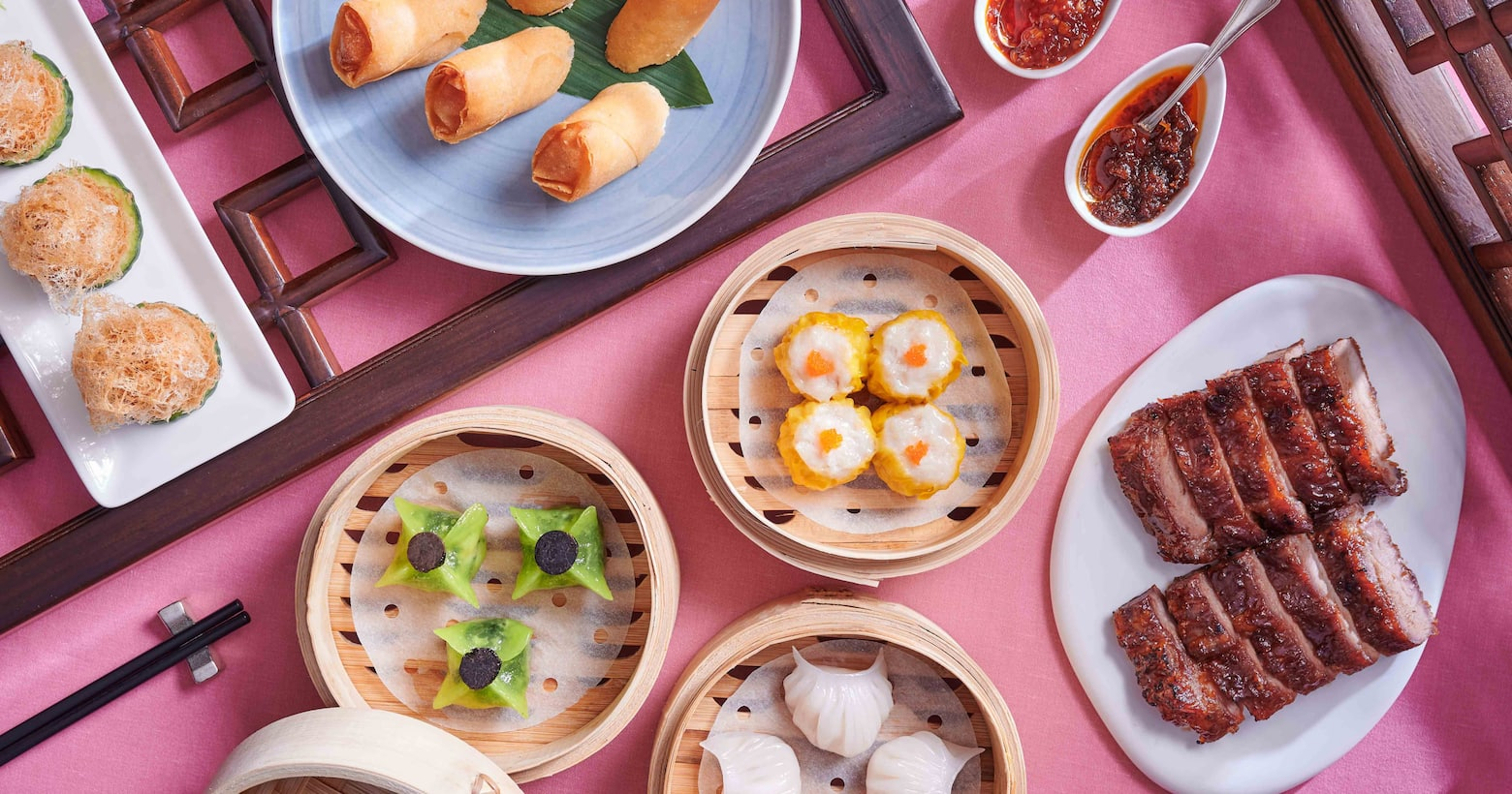 a wide selectionof dim sum