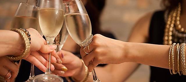 ladies toasting