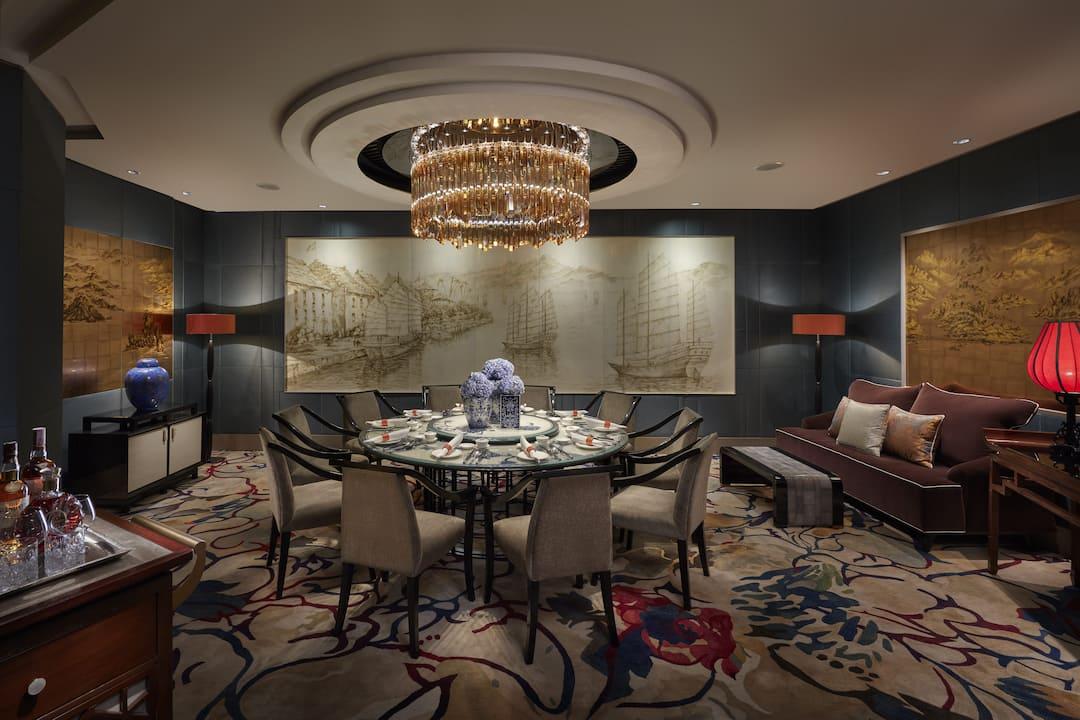 prviate dining room, li feng at mandarin oriental, jakarta