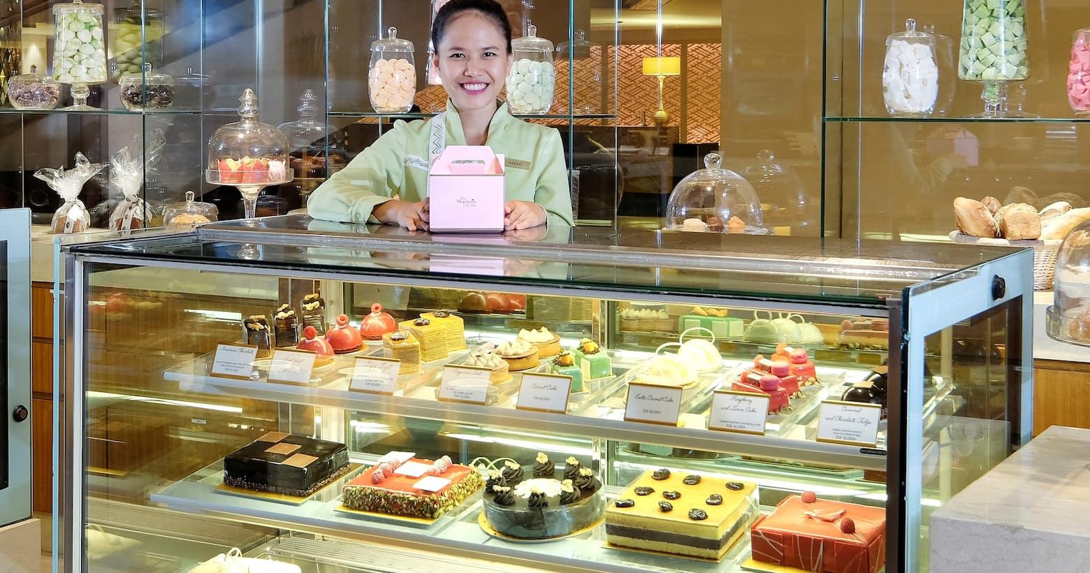 The Mandarin Cake Shop cakes counter