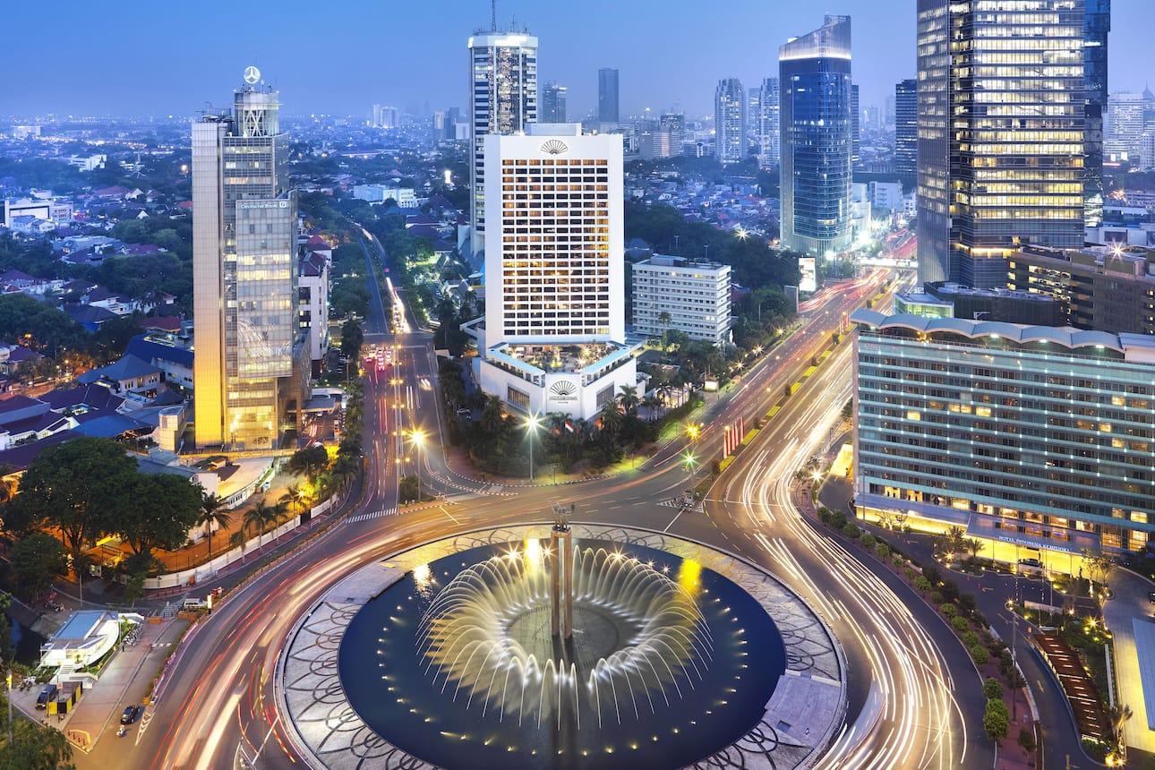 Night time view of Mandarin Oriental, Jakarta