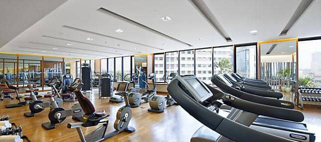 fitness centre at mandarin oriental, jakarta