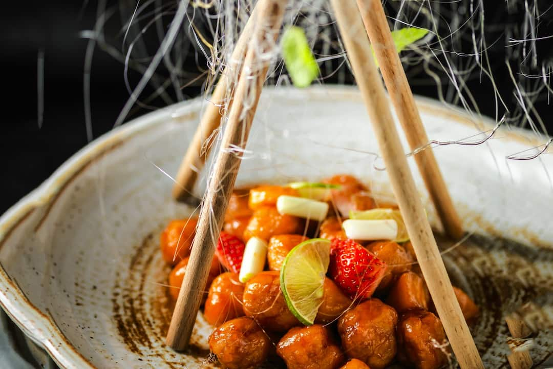 sweet & sour chicken at mandarin oriental, jakarta