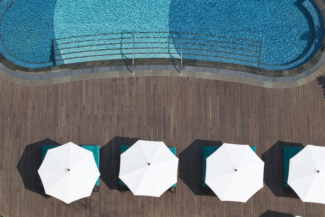 aerial view of swimming pool at mandarin oriental, jakarta