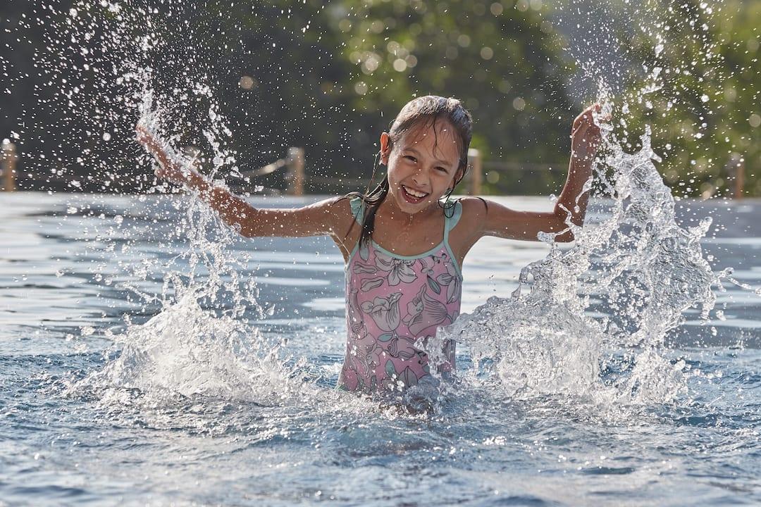 kid in pool at mandarin oriental, kuala lumpur