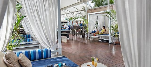 day beds by pool at mandarin oriental, kuala lumpur