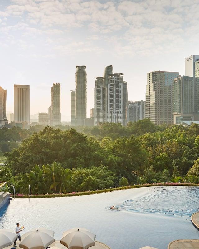 The outdoor pool at Mandarin Oriental, Kuala Lumpur
