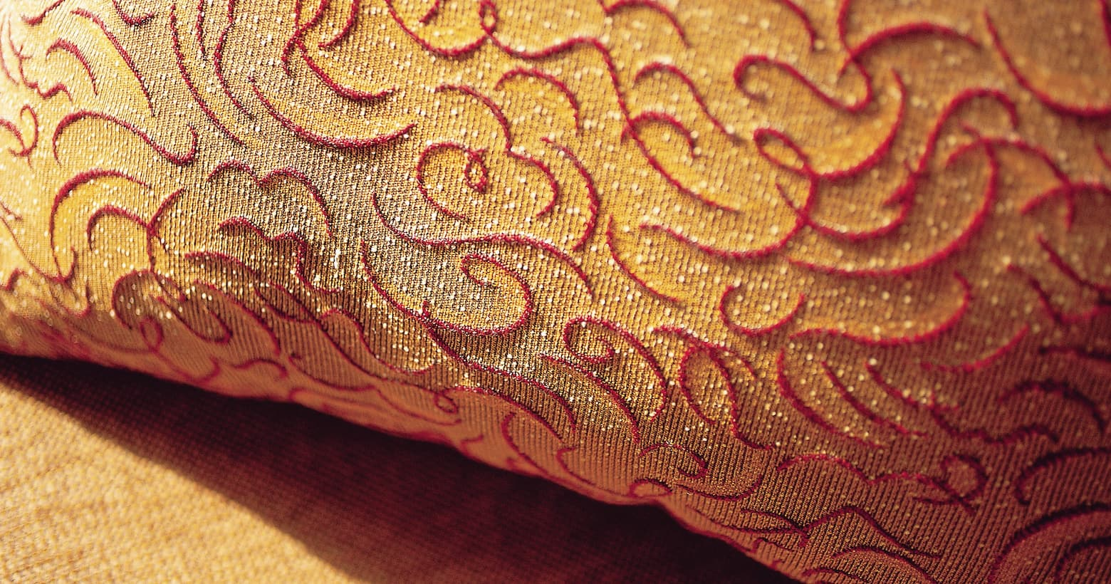 fabric pattern in red