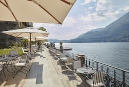 MO Bistrot terrace and Lake Como