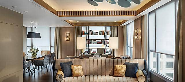apartment suite at the landmark mandarin oriental, hong kong