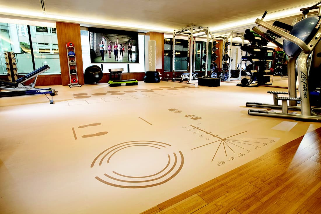gym at the landmark mandarin oriental, hong kong