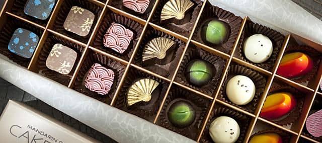 chocolate from cake shop at mandarin oriental, macau