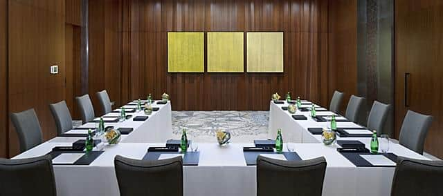 meeting room in u shape set up at mandarin oriental, macau