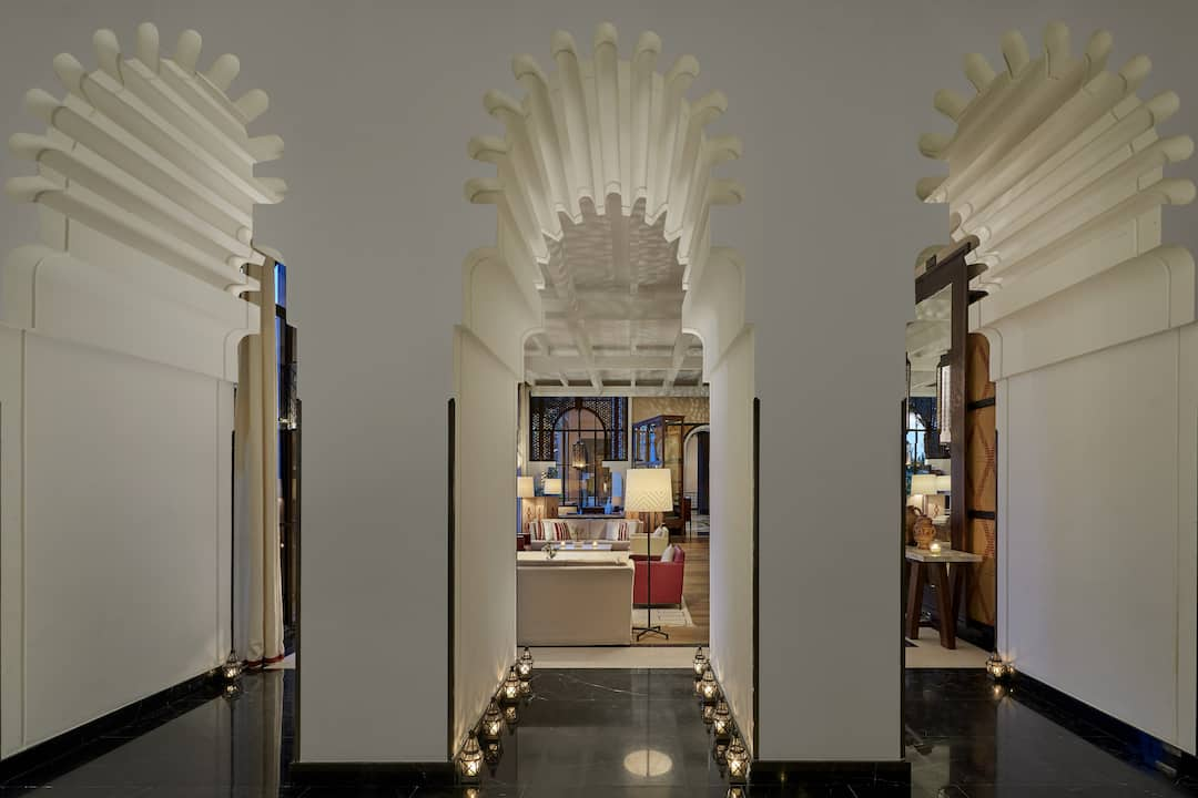 La salon berbere champagne bar mandarin oriental hotel marrakech for Salon berbere moderne