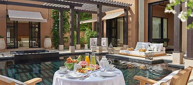 breakfast in villa