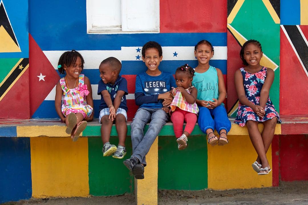 kids sitting together