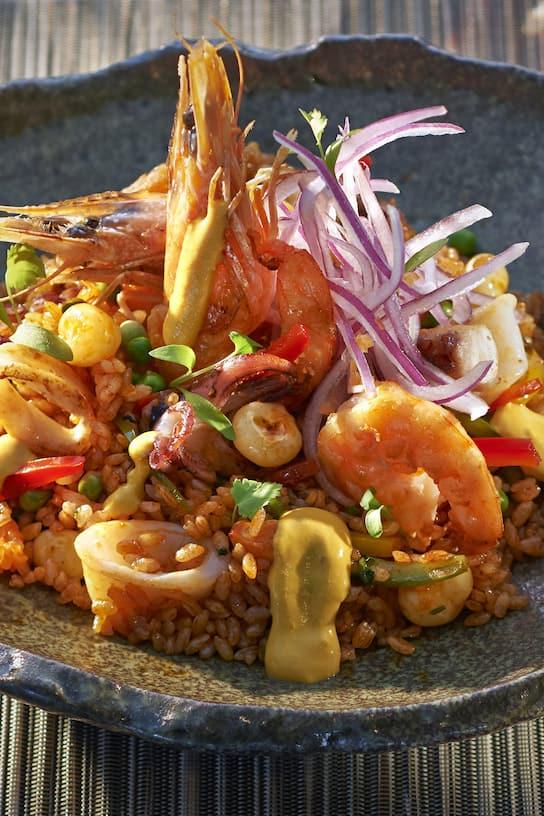 arroz frito con marisco
