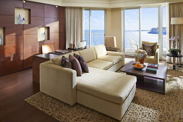 Premier Bay View Suite Living Room
