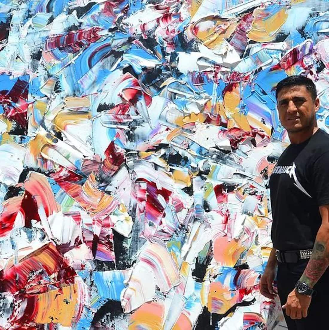Flavio Galvan and his painting