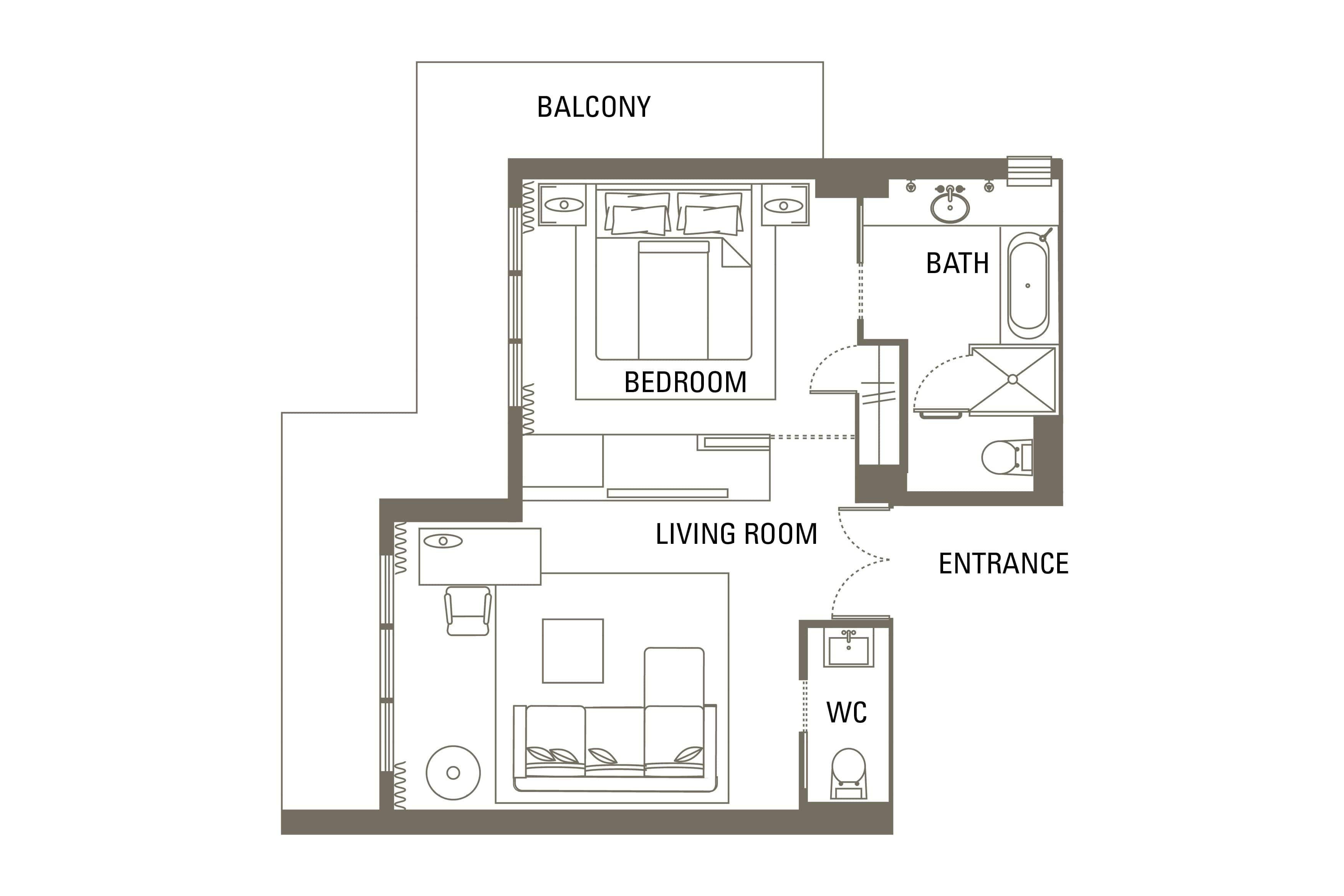 Floorplan In Room Dining Menu