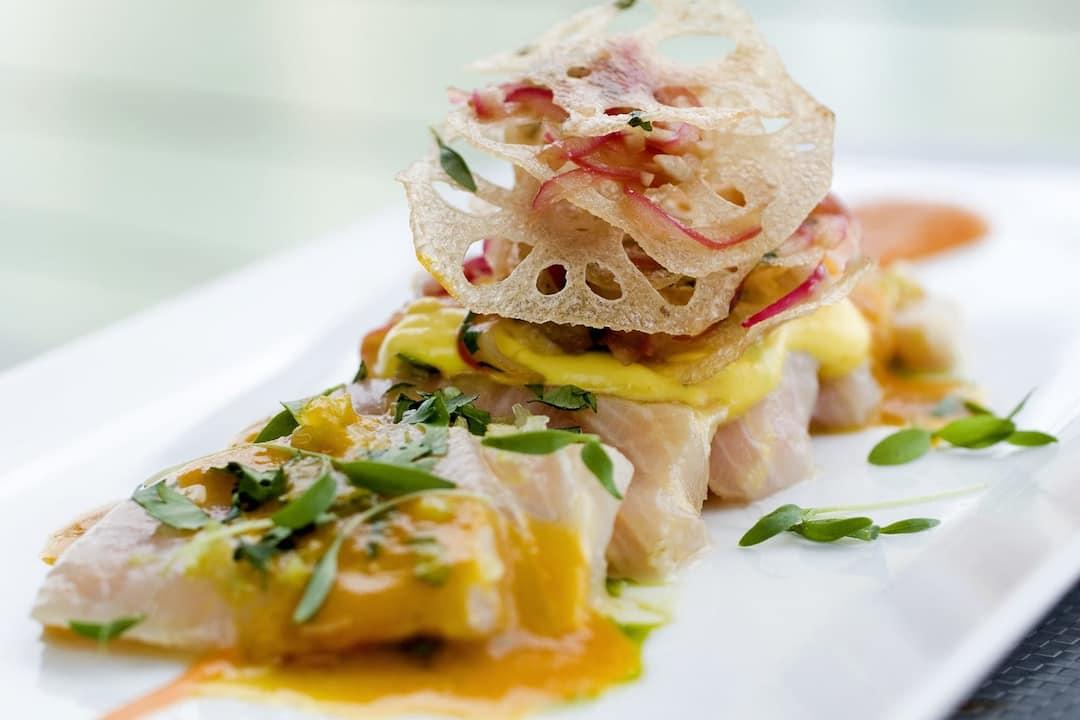 hamachi on plate